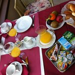 Une partie du petit-déjeuner