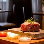 steak on stone