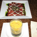 Bal Kabağı Çorbası ve Carpaccio