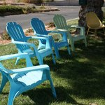 Shady lounge chairs.