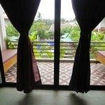 Balcony overloking pool