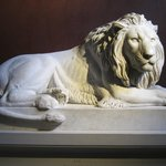 Lion sculpted by Thorvaldsen