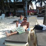 Infront of boracay peninsula nice and clean...