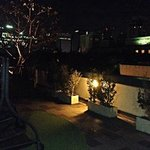 view from the roof terrace in the night.