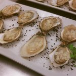 Beau Soleil oysters with asian pear and chili mongonette