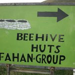 Road Sign  for the Fahan Beehive Huts