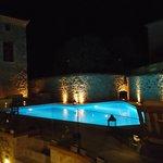 Night view at swimming pool
