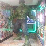 awesome comic book stuff everywhere!! family/kid friendly restaurant