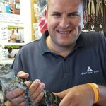 Mike with gator
