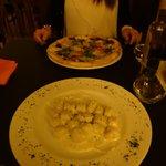 Gnocchi and pizza