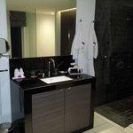Master bathroom in 3 bedroom apt