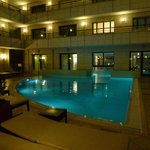 Night time view of the Pool