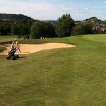 golf avec vue sur chateau de Montal