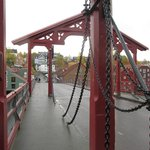 Cross the old bridge