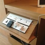 Charging station with the hotel's IPad
