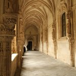 In the cloister