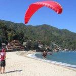 Tandem Paragliding over Yelapa Bay