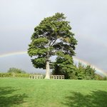 Rainbow over our wedding site