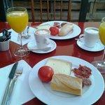 ¡Espléndido desayuno!