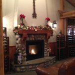 Come sit by our fire and enjoy a glass of wine!