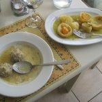 meatballs and artichokes w/ lemon sauce