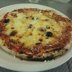 Pizza ronde des fromages