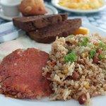 corned beef hash + fried rice!