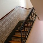 Stairway to upper rooms
