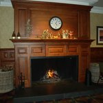 lovely roaring fire to welcome you back at night