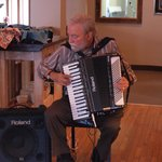 Our resident Accordion player usually playing at Archtop Sunday mornings