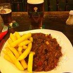 Chilli, Half Rice, Half Chips  & 1 Pint of Taylors Landlord
