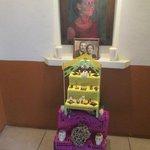 """Olga Querdida's altar for """"Dia de los Muertos"""""""