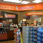 Interior view of Dunkin Donuts at the Hess Station