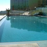Very large pool and pool deck area