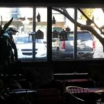 Birdhouse in cafe patio