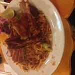Crispy duck pad Thai