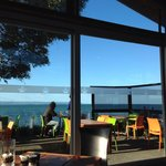 View from the terrace at Boardwalk Restaurant, Napier