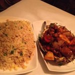 duck in pineapple with chicken fried rice. outstanding!