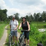 On our cycling tour - with Bali Nature