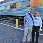 James with our favorite train attendant, Sherry.