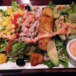 Zesty salad; the Korean beef tacos were better