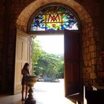 Me at the entrance of Immaculate Conception Church of Culion, Palawan!