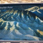 Zabriskie Point - sign at car park