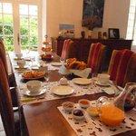 table gourmande des petits déjeuners