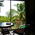 Terrace privative sur piscine
