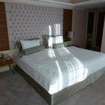 Welcoming bed & beautiful headboard