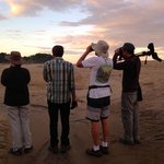Birding with Luis Morales at the estuary