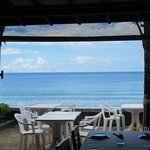 view of the sea from restaurant