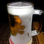 ice glass of beer