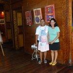 Valerie and our waitress at Kaz Zanana